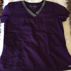 Grey's Anatomy Purple Scrub Top